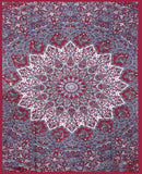 Indian Psychedelic Red Star Mandala Bohemian Handmade Tapestry - Bless International - Tapestries & Handicraft Exporter & Retailer - 3