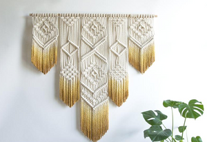 "The Calming Warmth Macrame Wall Hanging (24""X32""inches)"