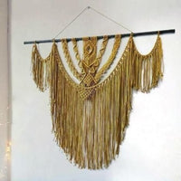 "Golden Sunrise Macrame Wall Hanging (36""x 48"" inches)"