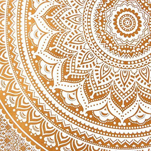 Indian Golden  Ombre Mandala Hippie Ethnic Bohemian Psychedelic Handmade apestry