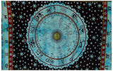 Indian Zodiac Horoscope Hippie Bohemian Beach Blanket Bedspread Handmade Twin Tapestry - Bless International - Tapestries & Handicraft Exporter & Retailer - 3