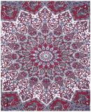 Indian Psychedelic Red Star Mandala Bohemian Handmade Tapestry - Bless International - Tapestries & Handicraft Exporter & Retailer - 2