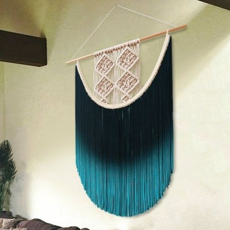 "Deep Sea Dreams Macrame Wall Hanging (24""x32""inches)"