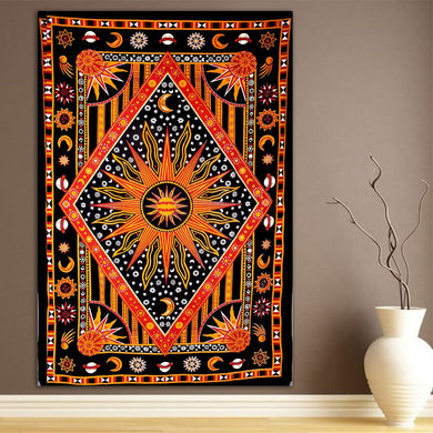 The Burning Sun Ethnic  Twin Tapestry