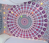 Indian Psychedelic Hippie Bohemian Mandala Handmade Tapestry with Exclusive Bestseller eBook - Bless International - Tapestries & Handicraft Exporter & Retailer - 3