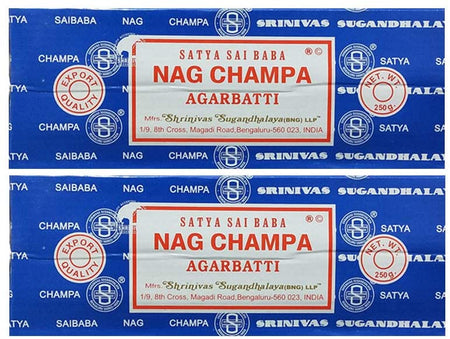 Satya Sai Baba Nag Champa Agarbatti Pack of 2 Incense Sticks Boxes 250gms