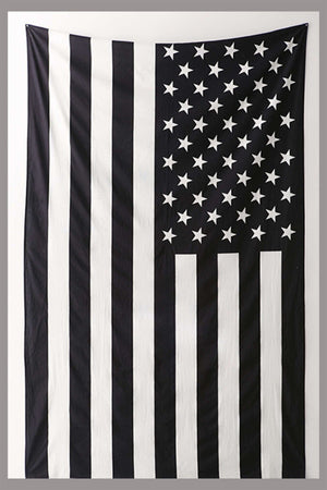 American Flag Black and  White Hippie Ethnic Bohemian Psychedelic Handmade Tapestry - Bless International - Tapestries & Handicraft Exporter & Retailer - 4