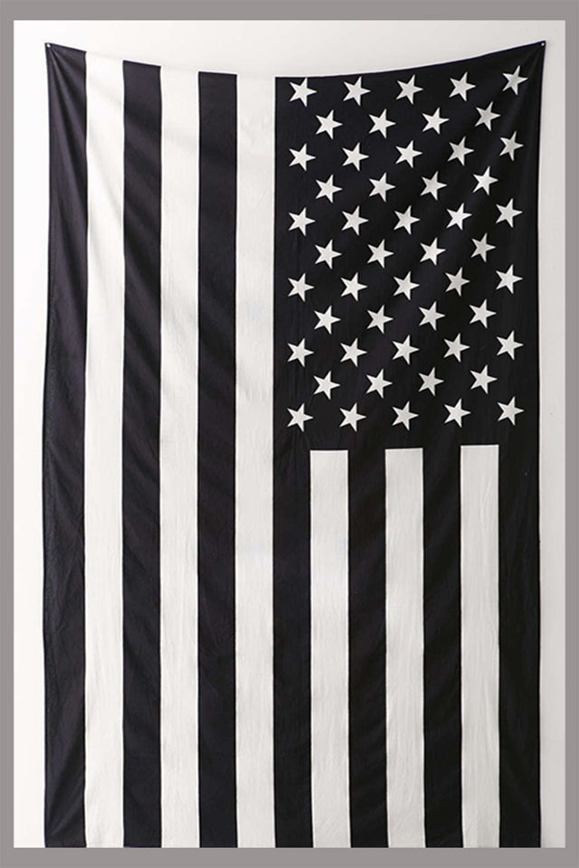 American Flag Black and  White Hippie Ethnic Bohemian Psychedelic Handmade Tapestry - Bless International - Tapestries & Handicraft Exporter & Retailer - 2