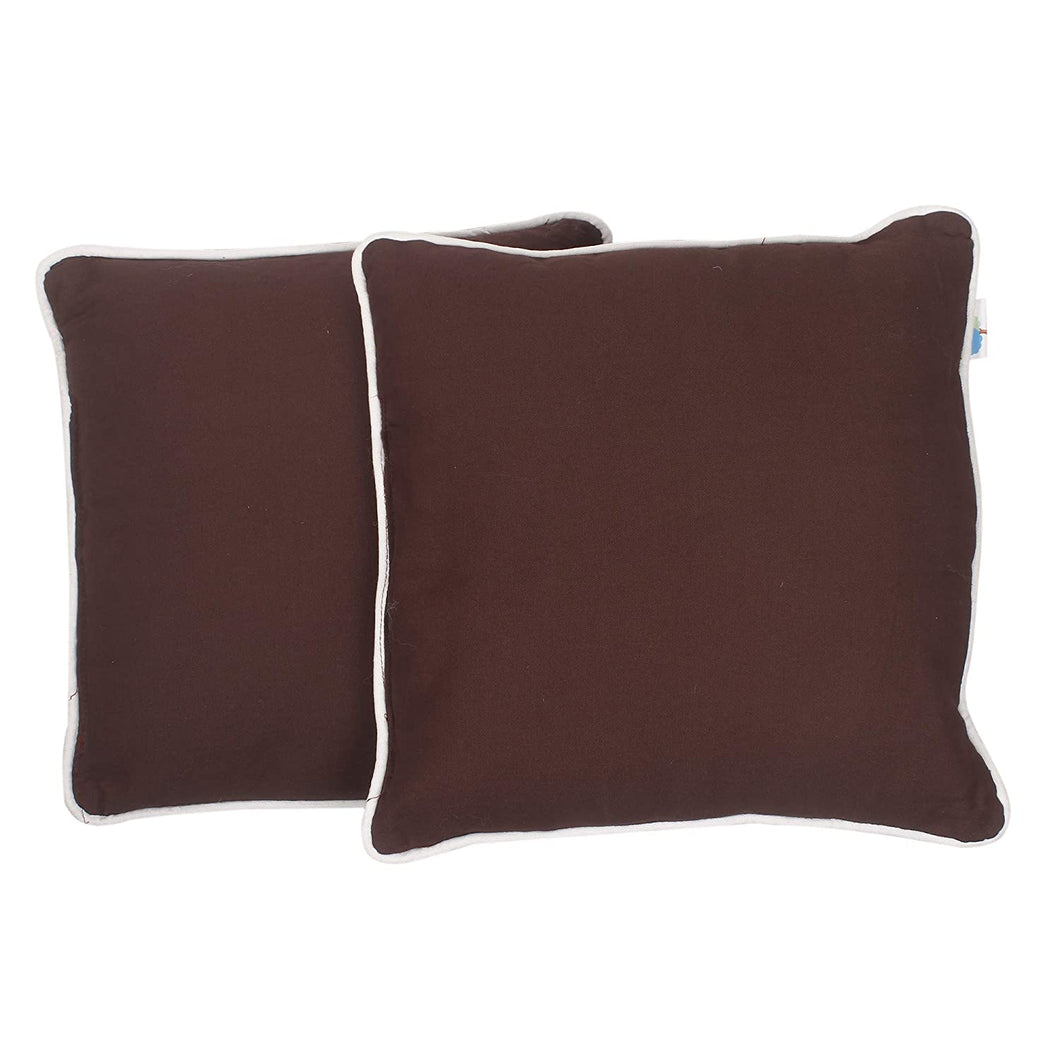 Bless International 16x16 Brown Throw Pillow Inserts