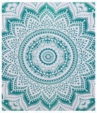 Indian Green Hippie Mandala Bohemian Psychedelic Handmade Tapestry - Bless International - Tapestries & Handicraft Exporter & Retailer - 3