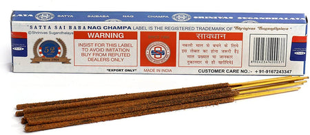 Satya Sai Baba Nag Champa Incense Sticks- Incense 3Pack of 15g Box