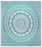 Indian Green Hippie Mandala Bohemian Psychedelic Handmade Tapestry - Bless International - Tapestries & Handicraft Exporter & Retailer - 2