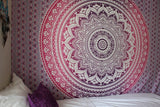 Indian hippie Bohemian psychedelic Ombre Mandala Wall Hanging Tapestry Purple Pink