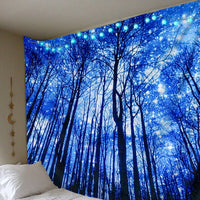 Digital Glowing forest Polyester Tapestry (Twin((72x41 Inches)(183x104cms))