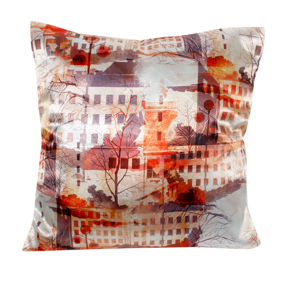 Buildings and Trees Isolated Pillow-case Cushion-cover-16x16-inch
