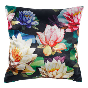 Water Lily Lotus Flowers Pillow-case Cushion-cover-16x16-inch
