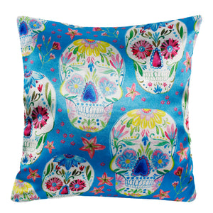 Sugar Skull Seamless Pattern Pillow-case Cushion-cover-16x16-inch