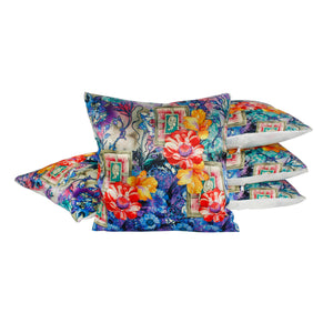 Floral Botanical Flowers Pillow-case Cushion-cover-16x16-inch