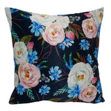 Pink White Flower Pillow-case Cushion-cover-16x16-inch