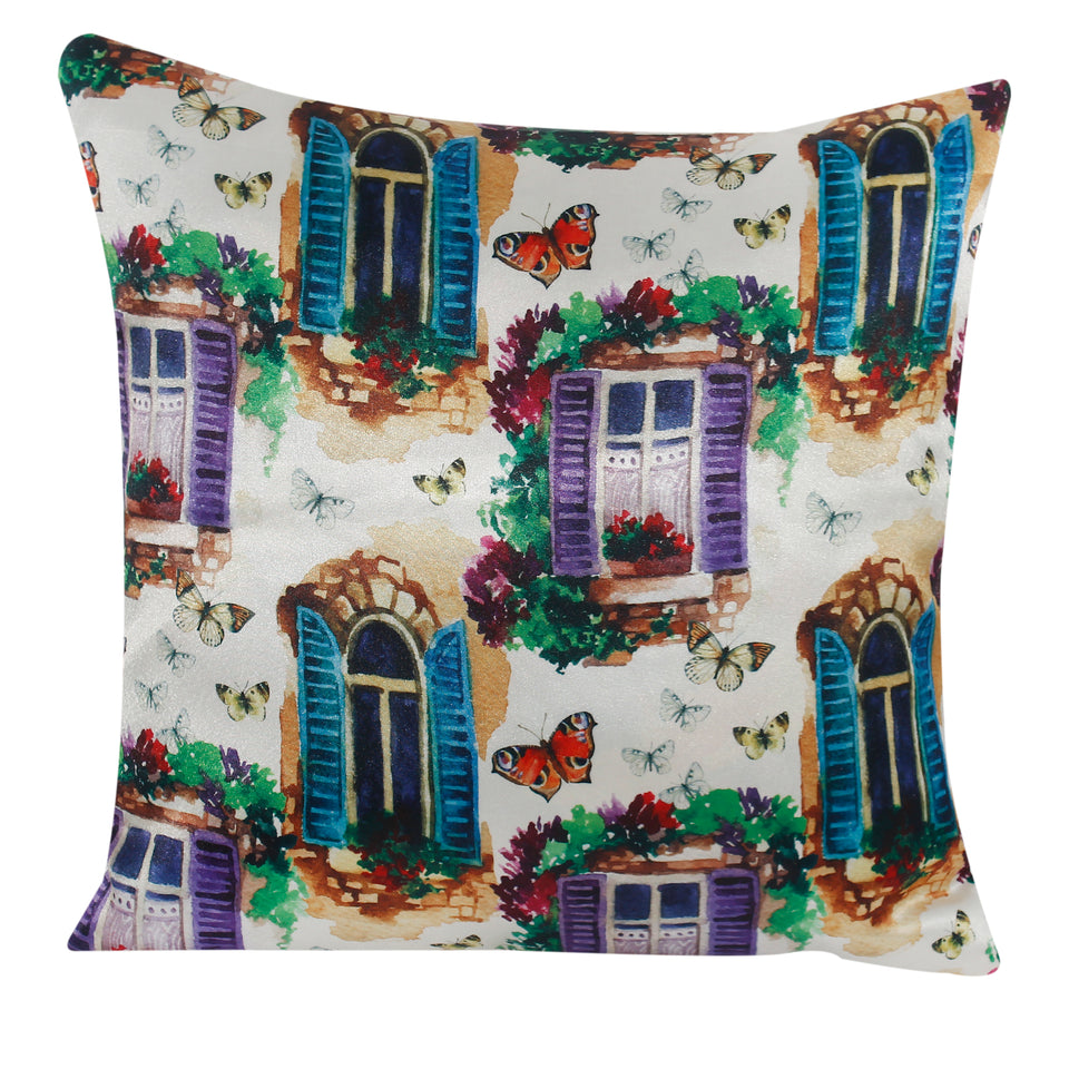 Multi Window Living Pillow-case Cushion-cover-16x16-inch