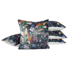 Multi Flower Living Pillow-case Cushion-cover-16x16-inch