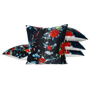 Red Flower Living Pillow-case Cushion-cover-16x16-inch