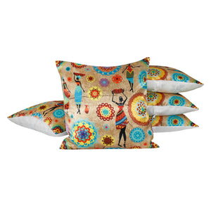 Vintage Flower Pillow-case Cushion-cover-16x16-inch
