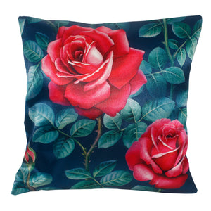 Red Rose Flower Pillow-case Cushion-cover-16x16-inch