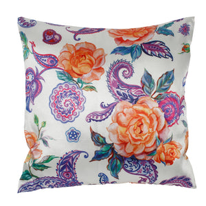 Purpal Gold Flower Pillow-case Cushion-cover-16x16-inch