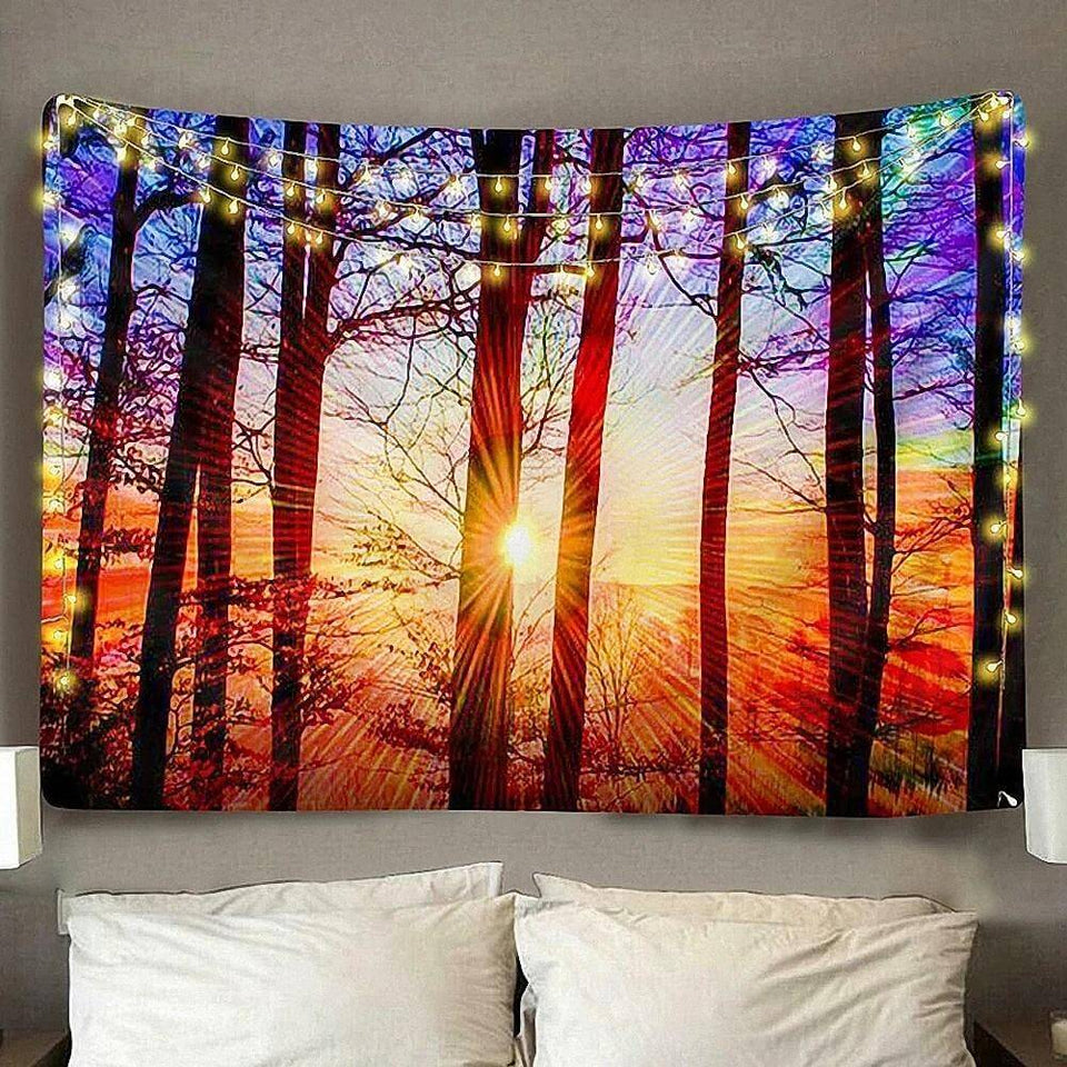 Digital HD Blissful Sunshine Polyester Tapestry (Twin((72x41 Inches)(183x104cms))