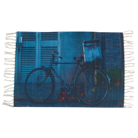 Bicycle Sports Night Blue Home and Kitchen Rug