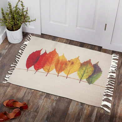 Seamless Colorfull Leaves Vector Area Rug Dining Room, Home,