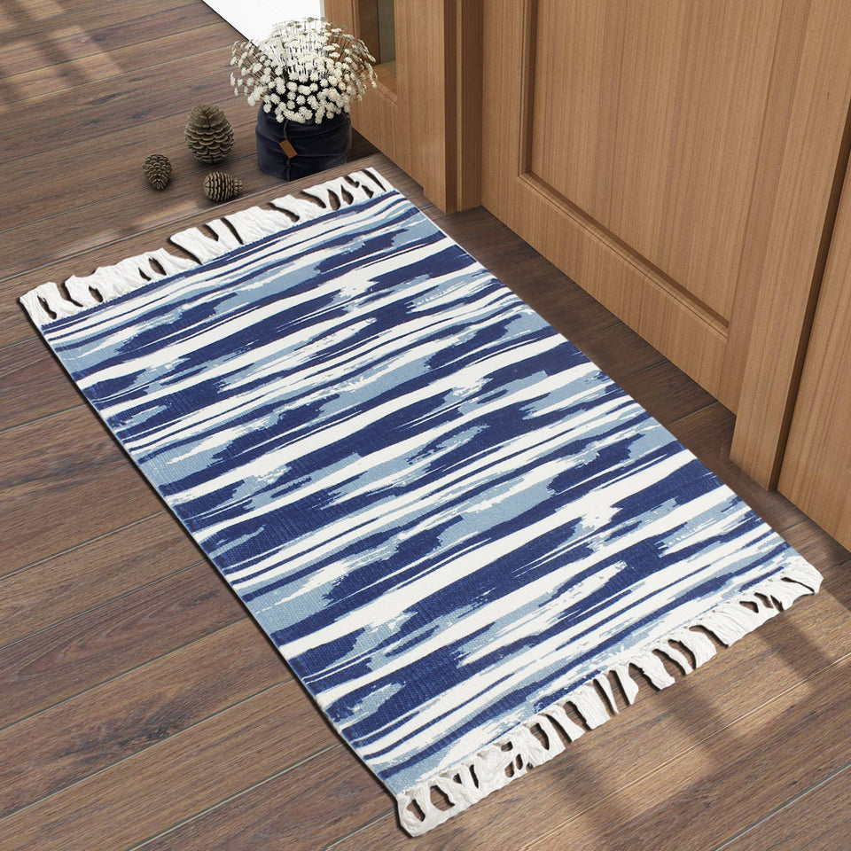 Striped Vintage Turkish Home and Kitchen Rug