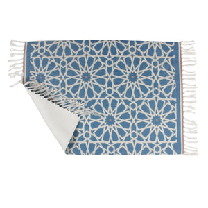 Laser Cut Vector Blue Home and Kitchen Rug