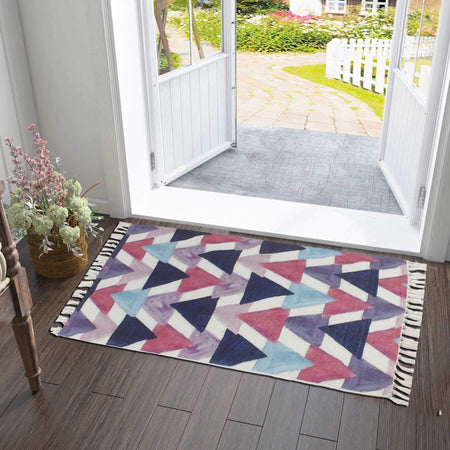 Trendy Pastel Retro Burst Home and Kitchen Rug