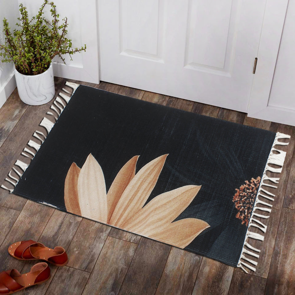 Gerbera Flower Living Coral Home and Kitchen Rug