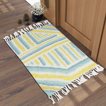 Bless International Handmade Beautiful Rugs PET Home and Kitchen Rug Non Accent Area Carpet for Kids and Living Room