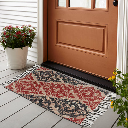 Seamless Victorian Floral Home and Kitchen Rug