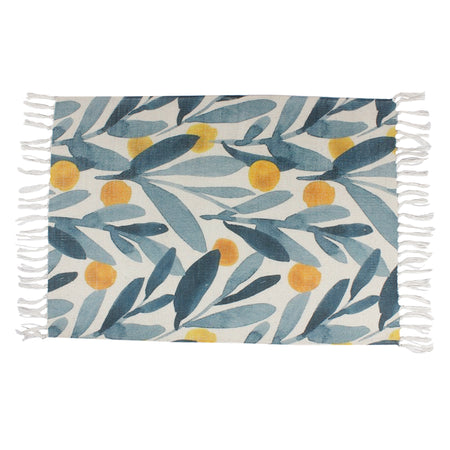 Palm Butterflies Tropical Vector Home and Kitchen Rug