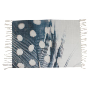 Guinea Fowl Blue Feather Super Soft Indoor Area Rug