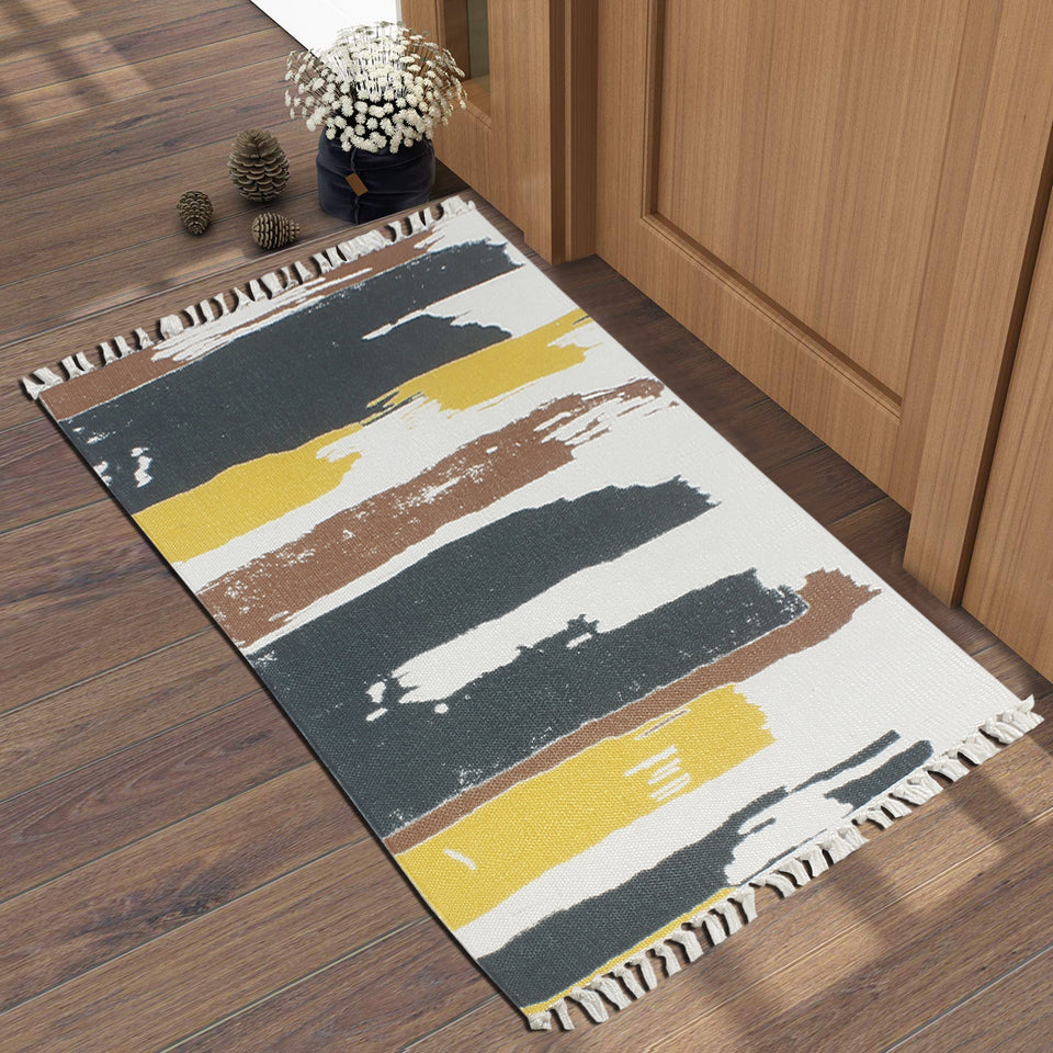 Color Strips On Wall  Home and Kitchen Rug