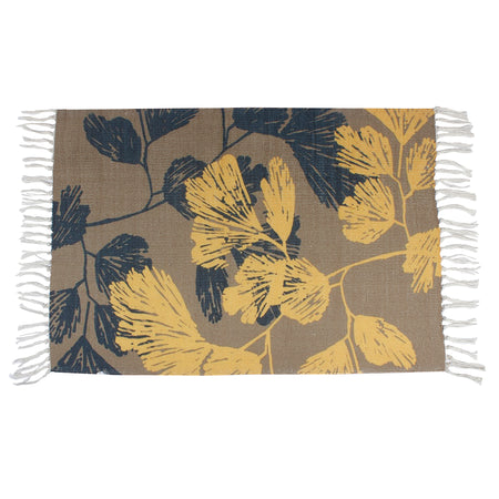 Vector Hawaiian Tropical Yellow Home and Kitchen Rug