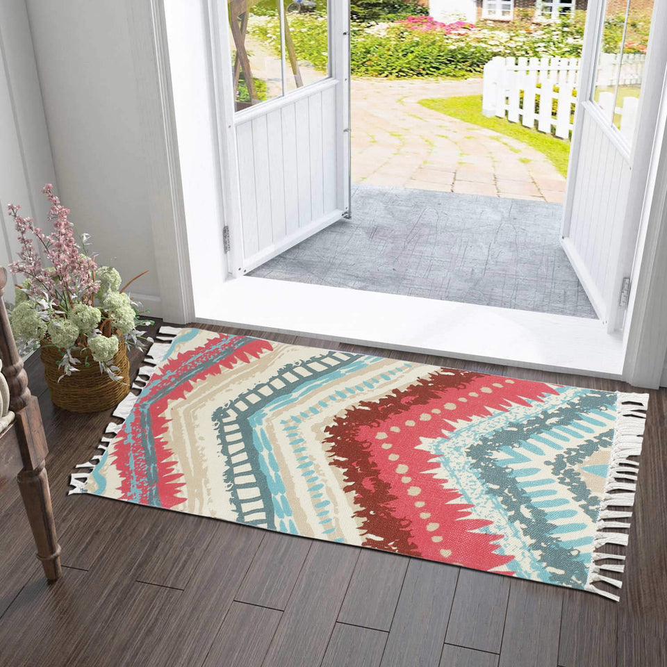 Classic Zig-Zag Multilines  Home and Kitchen Rug