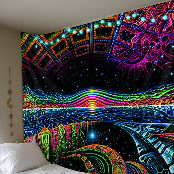 Polister Digital Trippy Tapestry (Twin((72x41 Inches)(183x104cms))