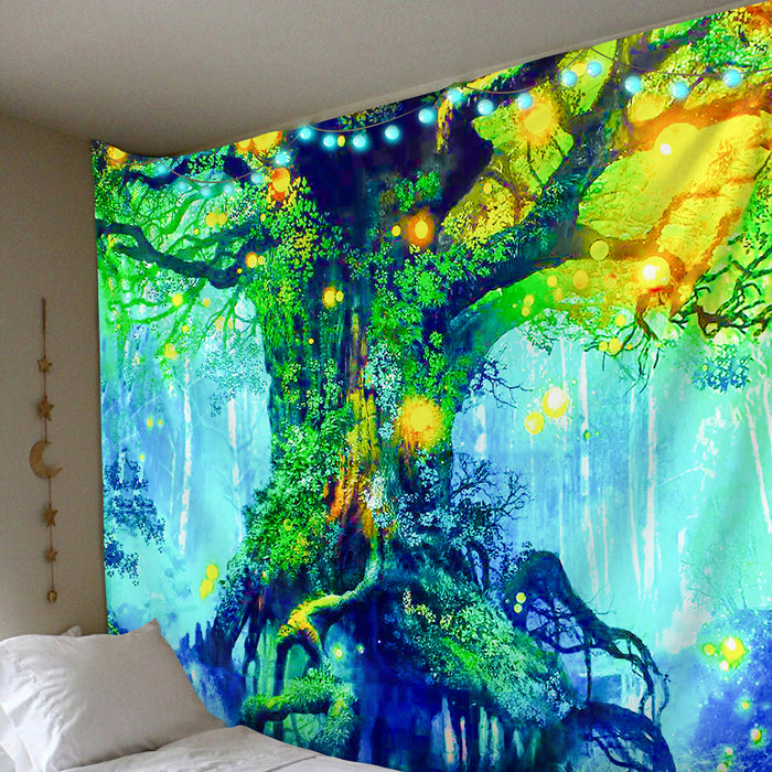 Polister Digital Fantasy Forest Tapestry  (Twin((72x41 Inches)(183x104cms))