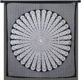 Indian Peacock Black White Hippie Ethnic Bohemian Psychedelic Mandala Large Handmade Tapestry - Bless International - Tapestries & Handicraft Exporter & Retailer - 2