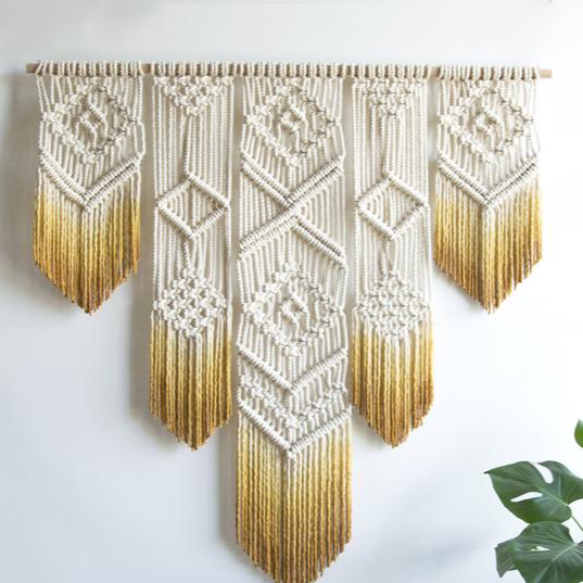 The Calming Warmth Macrame Wall Hanging (24