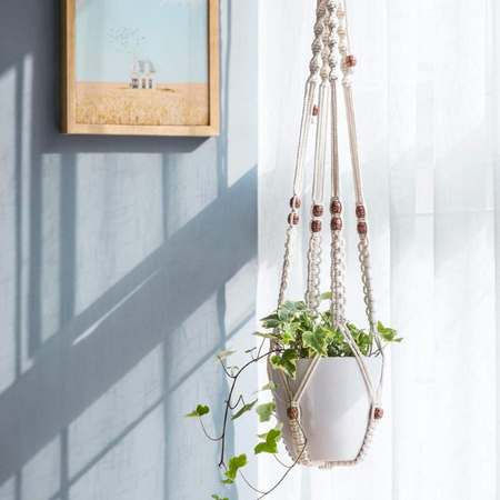 Macrame Plant Holder Wall Hanging (Height 30 inches)