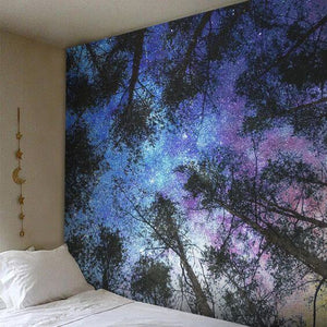 Digital Radiant Forest Tapestry (Twin((72x41 Inches)(183x104cms))