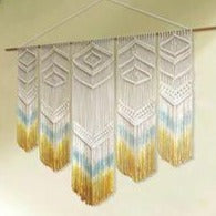 "Golden Meadow Macrame Wall Hanging (24""x32""inches)"